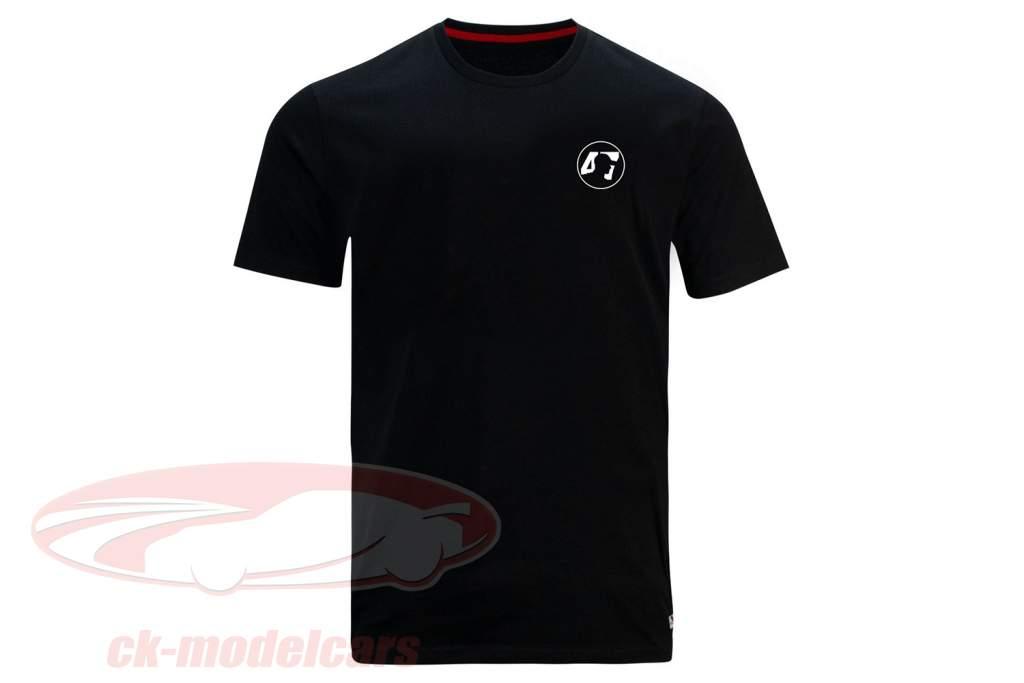 Mick Schumacher Camiseta de manga corta Round Logo negro