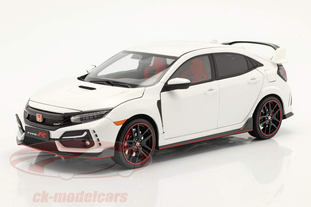 Honda Civic Type-R year 2020 white 1:18 LCD Models