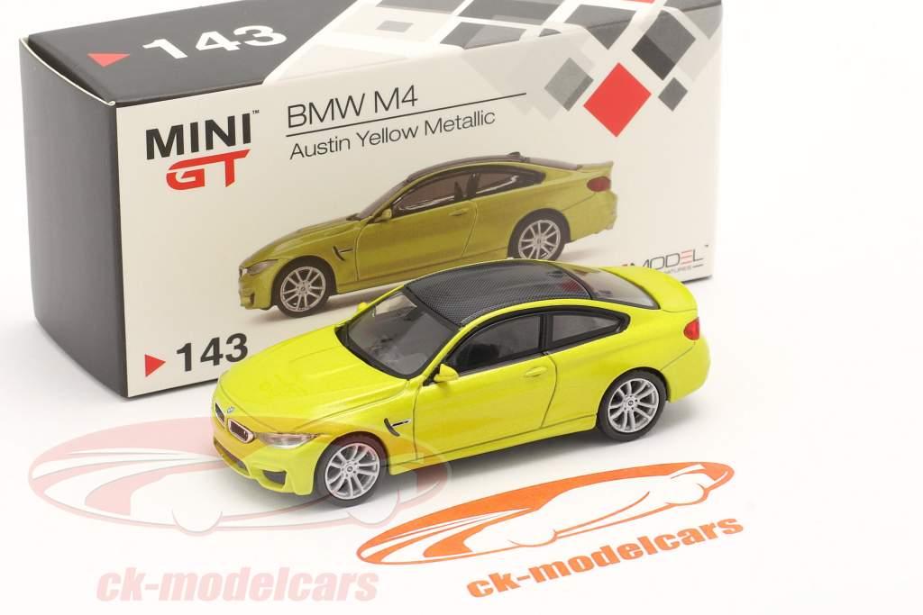 BMW M4 (F82) LHD austin gul metallisk 1:64 TrueScale