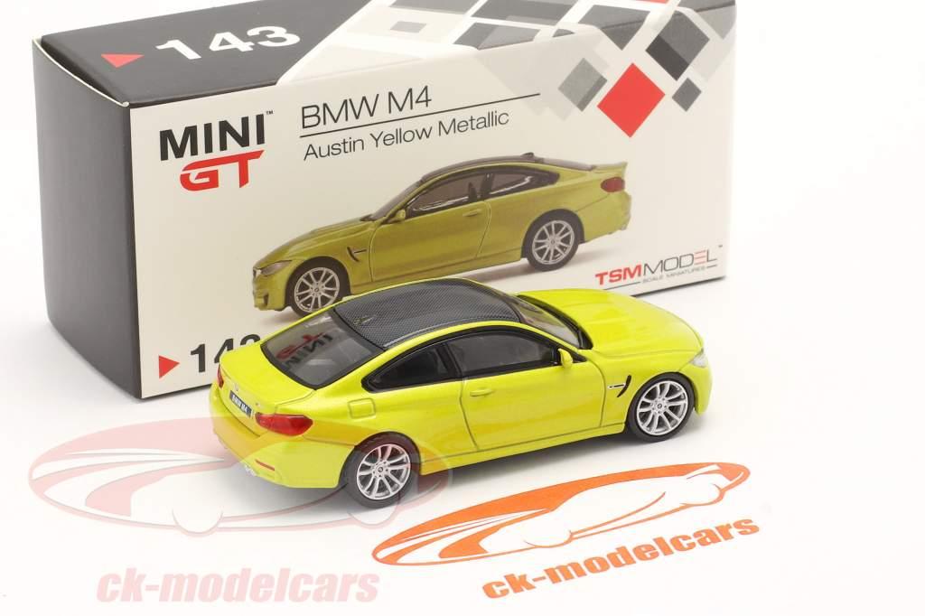 BMW M4 (F82) LHD austin amarillo metálico 1:64 TrueScale