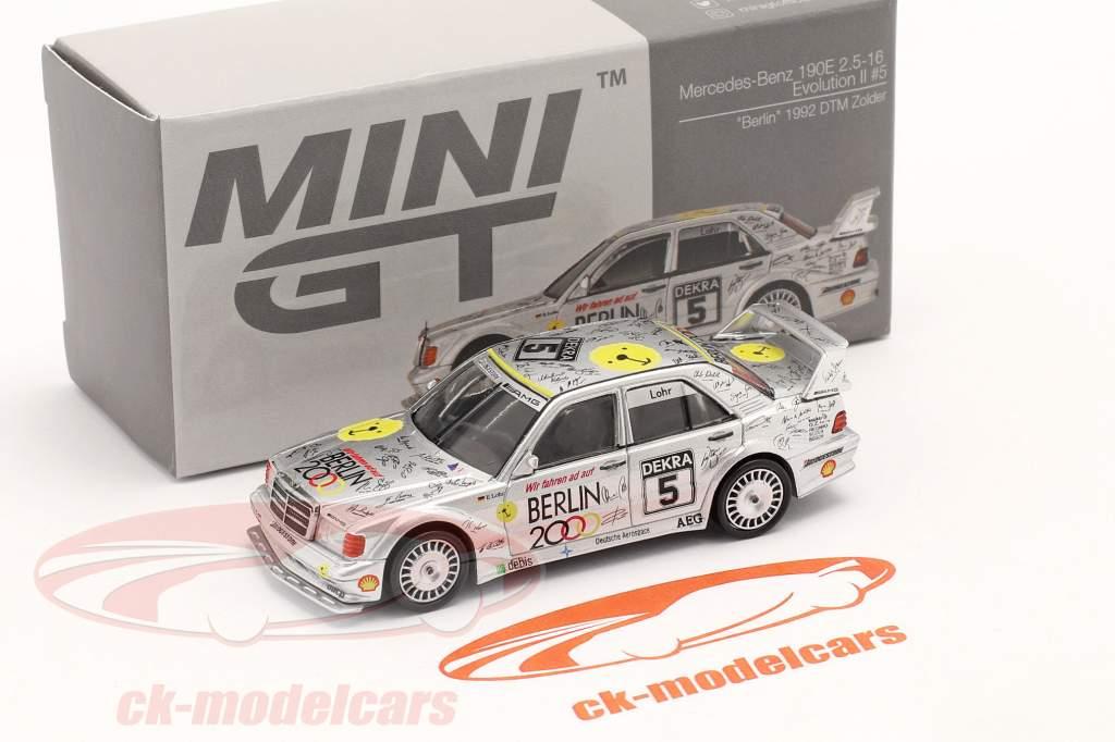 """Mercedes-Benz 190E 2.5-16 Evo II """"Berlin"""" #5 DTM Zolder 1992 Lohr 1:64 TrueScale"""