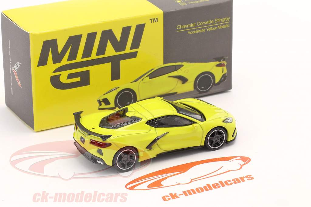 Chevrolet Corvette Stingray LHD year 2020 accelerate yellow 1:64 TrueScale