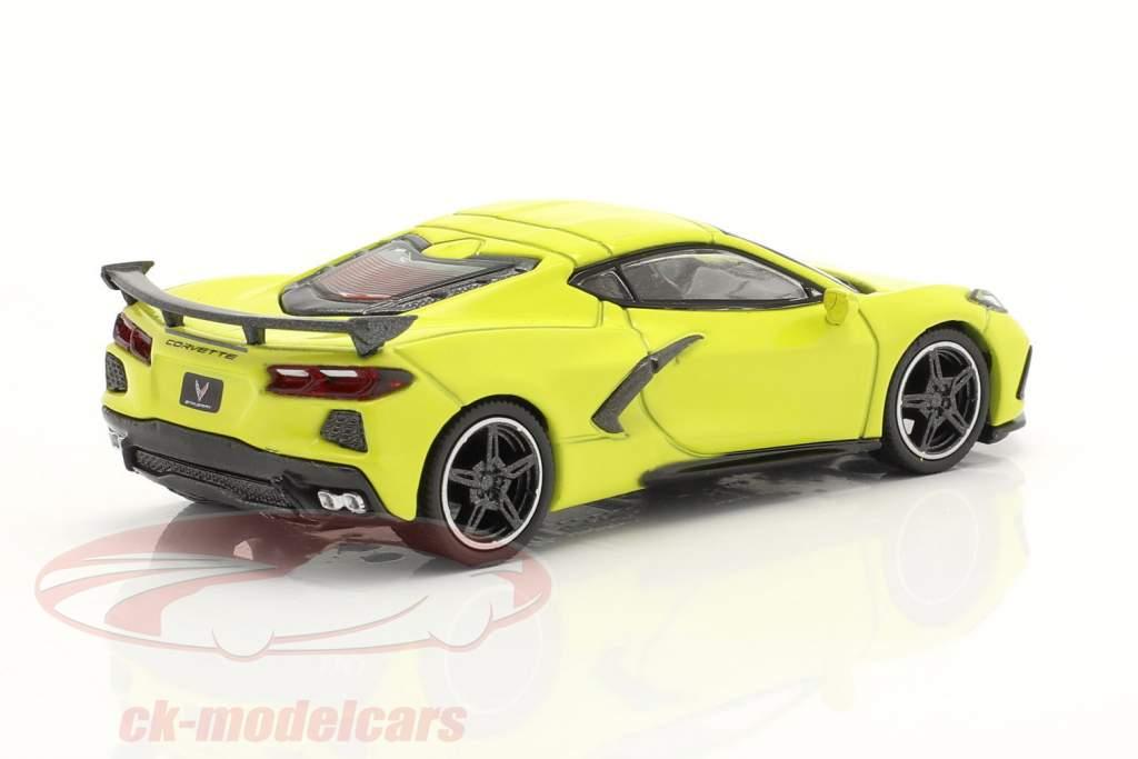 Chevrolet Corvette Stingray LHD bouwjaar 2020 accelerate geel 1:64 TrueScale