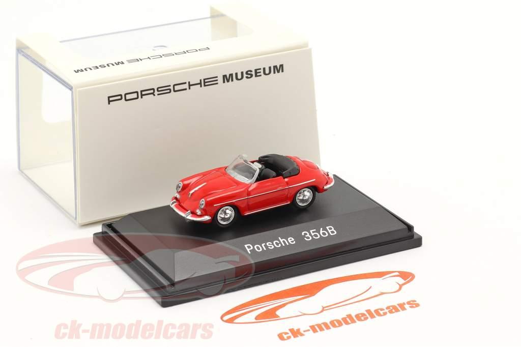 Porsche 356B Cabriolet Rød 1:87 Welly