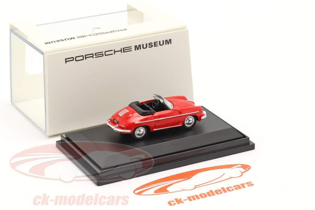Porsche 356B Convertible rojo 1:87 Welly