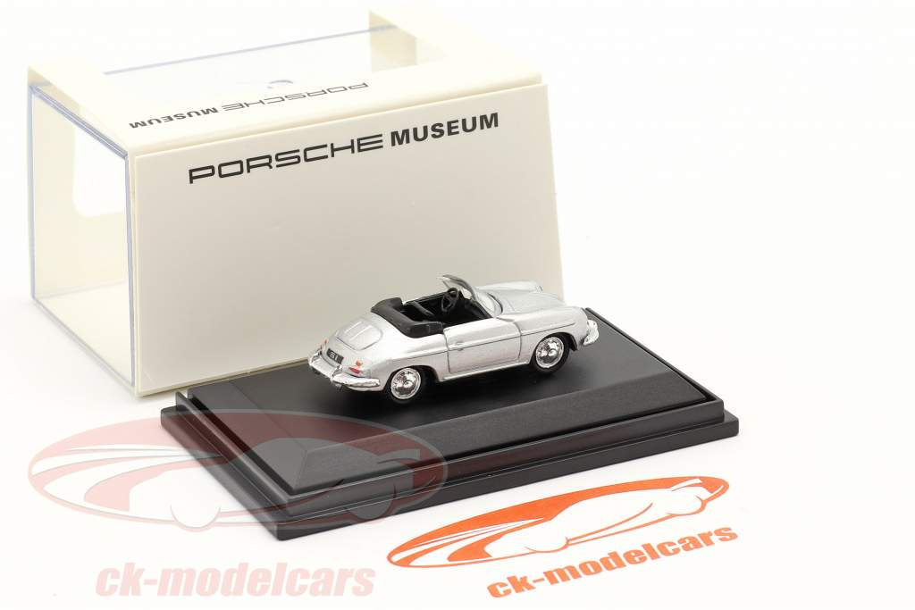 Porsche 356B Convertibile d'argento 1:87 Welly