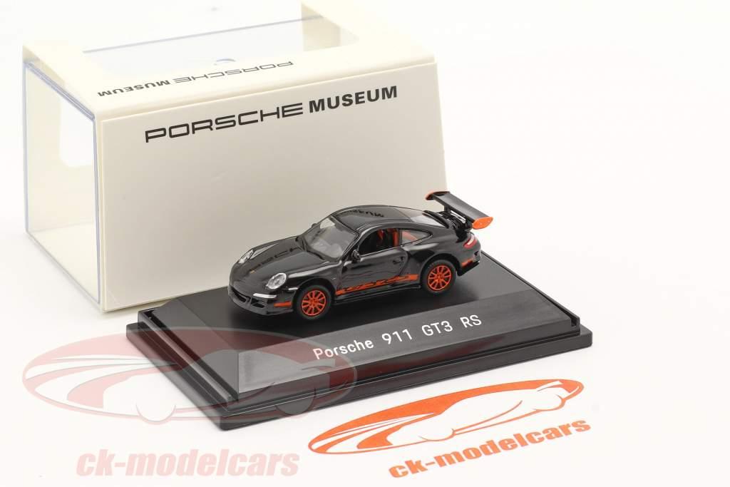 Porsche 911 (997) GT3 RS negro 1:87 Welly