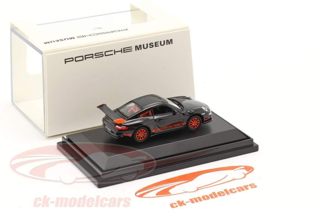 Porsche 911 (997) GT3 RS schwarz 1:87 Welly