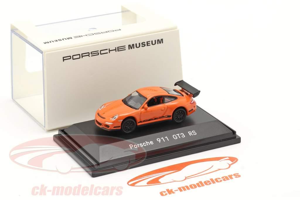 Porsche 911 (997) GT3 RS laranja 1:87 Welly