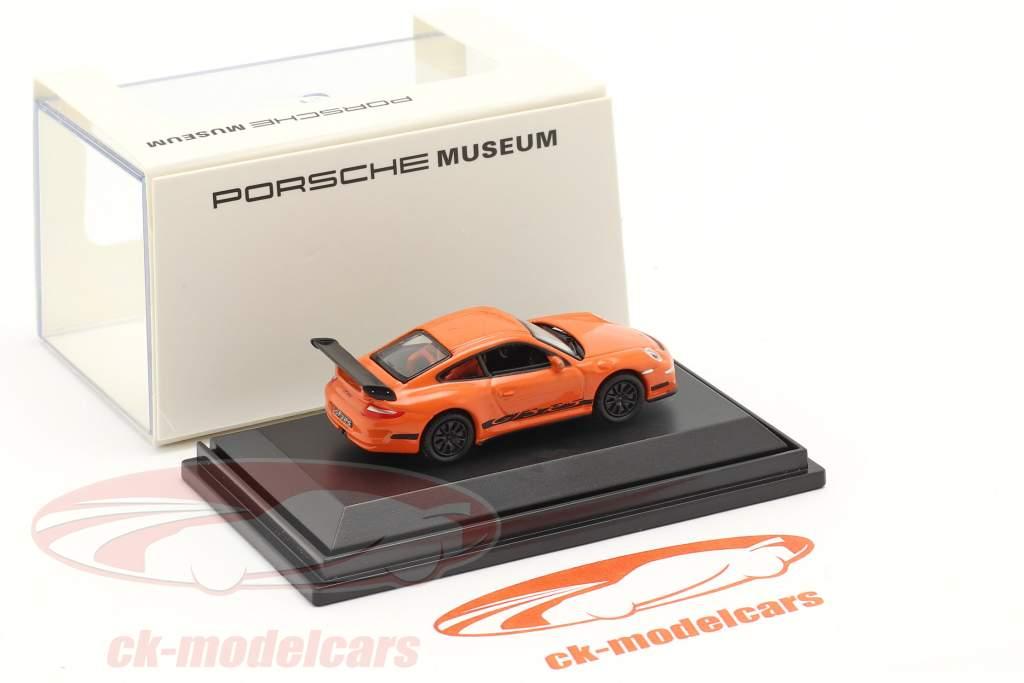 Porsche 911 (997) GT3 RS naranja 1:87 Welly