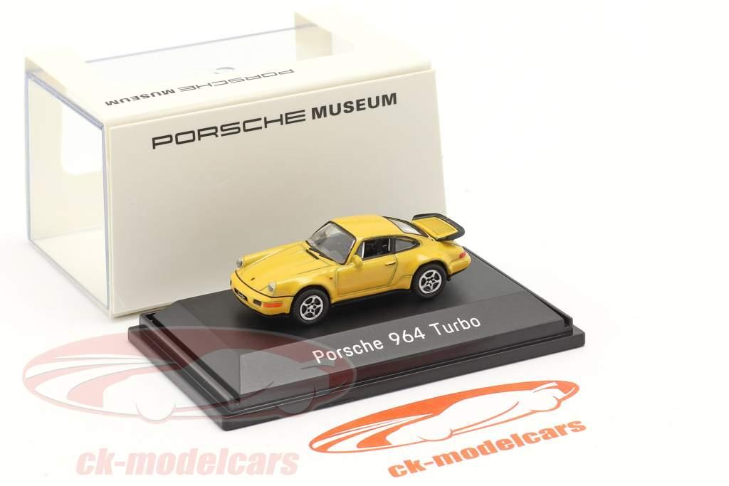 Porsche 911 (964) Turbo gul 1:87 Welly