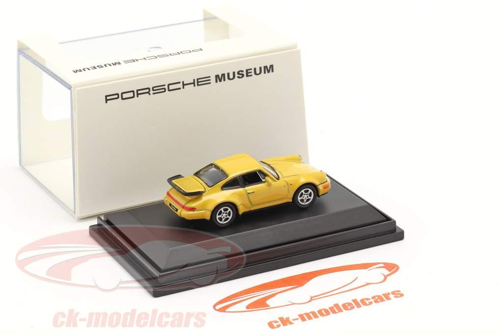 Porsche 911 (964) Turbo gelb 1:87 Welly