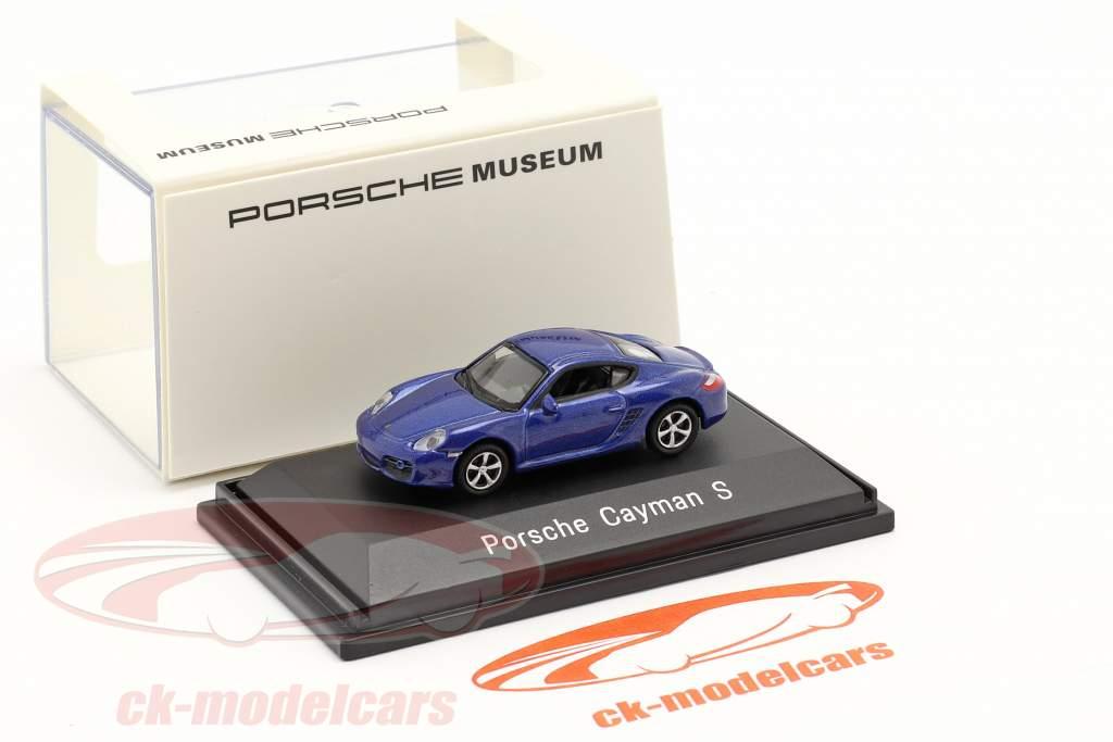 Porsche Cayman S blå metallisk 1:87 Welly