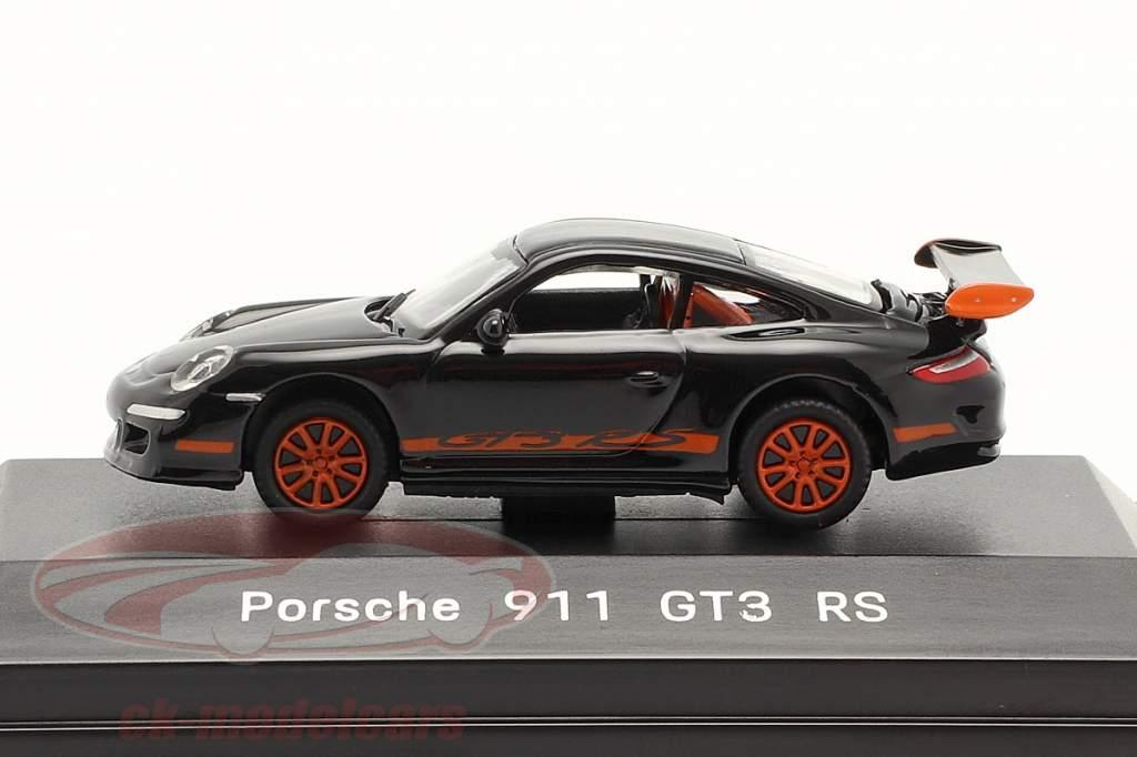 Porsche 911 (997) GT3 RS black 1:87 Welly
