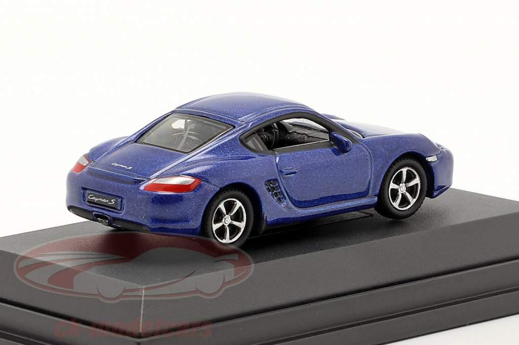 Porsche Cayman S blauw metalen 1:87 Welly