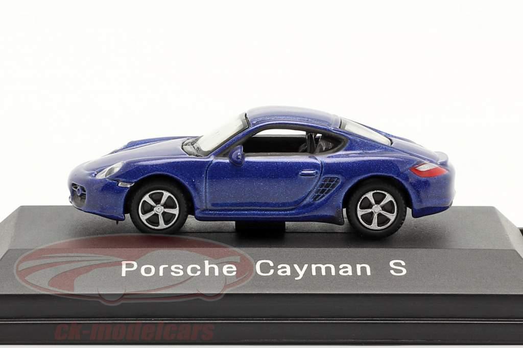 Porsche Cayman S blue metallic 1:87 Welly
