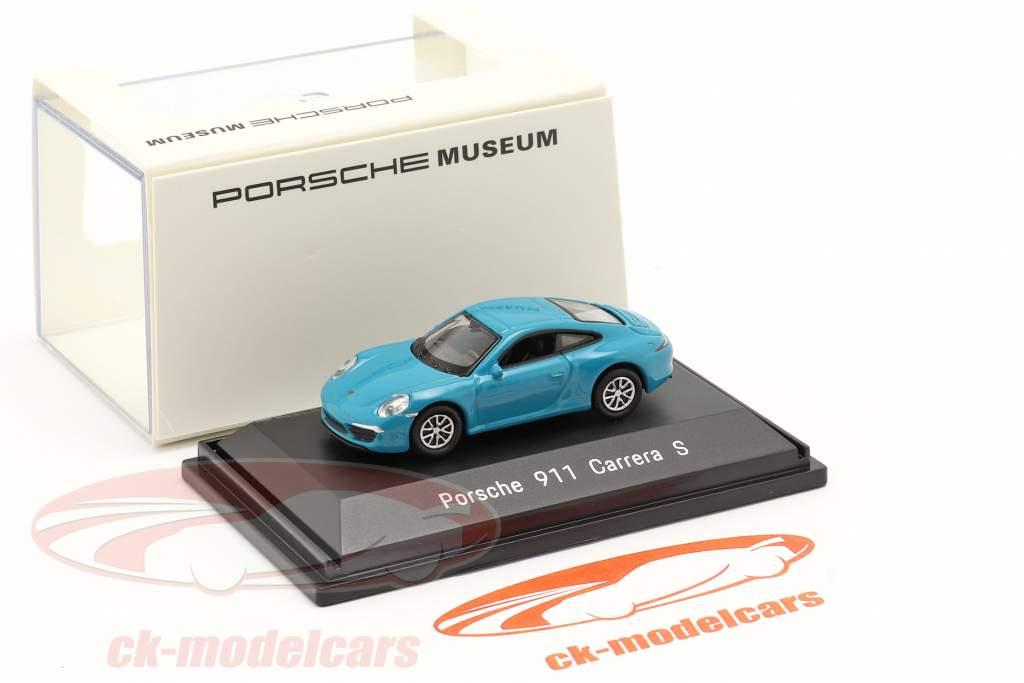 Porsche 911 (991) Carrera S miami bleu 1:87 Welly