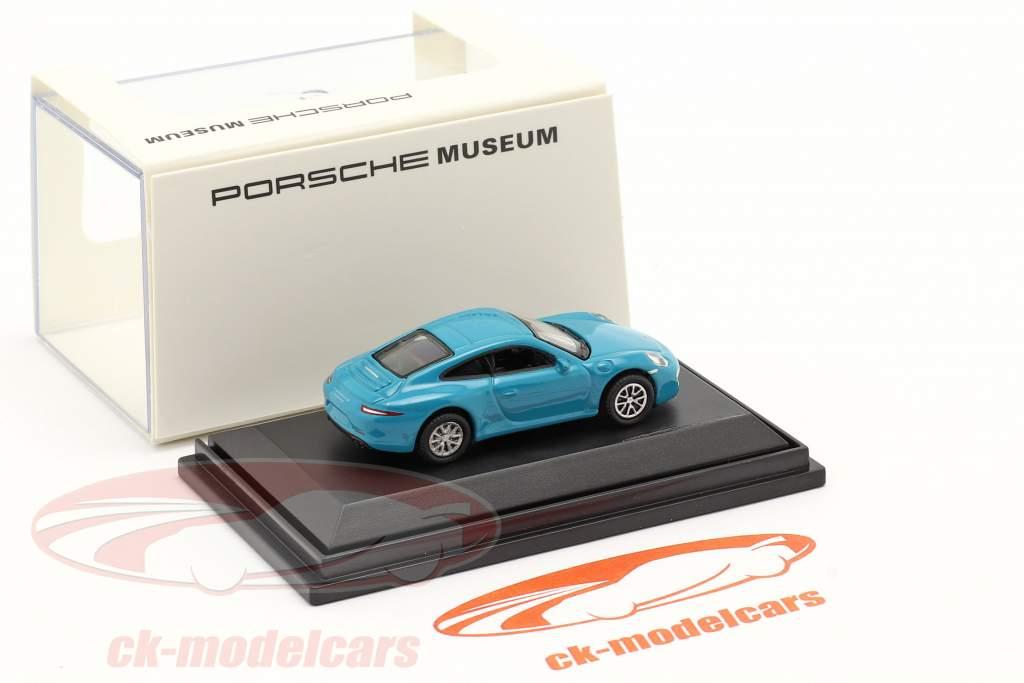 Porsche 911 (991) Carrera S miami blå 1:87 Welly
