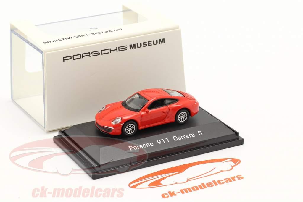 Porsche 911 (991) Carrera S Rød 1:87 Welly