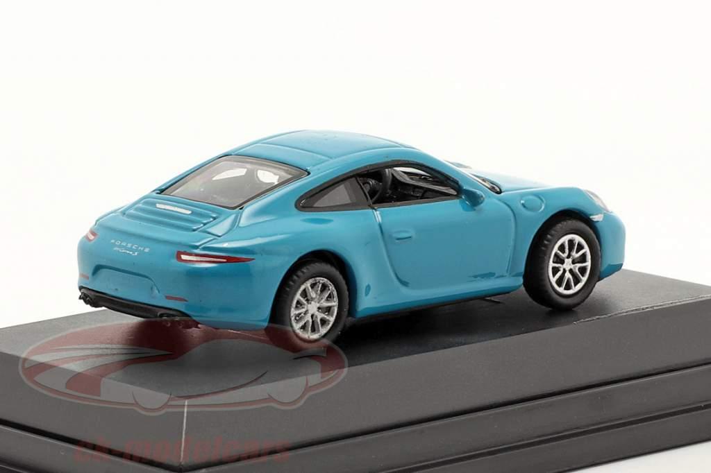 Porsche 911 (991) Carrera S miami blue 1:87 Welly