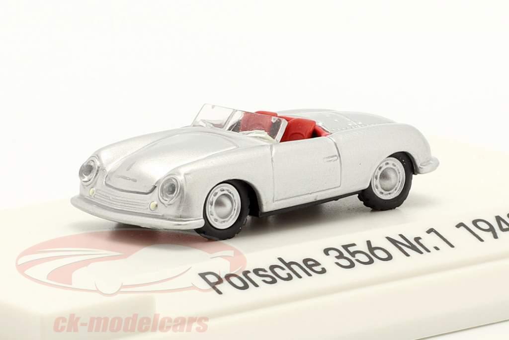 Porsche 356 Nr.1 Roadster year 1948 silver 1:87 Autocraft
