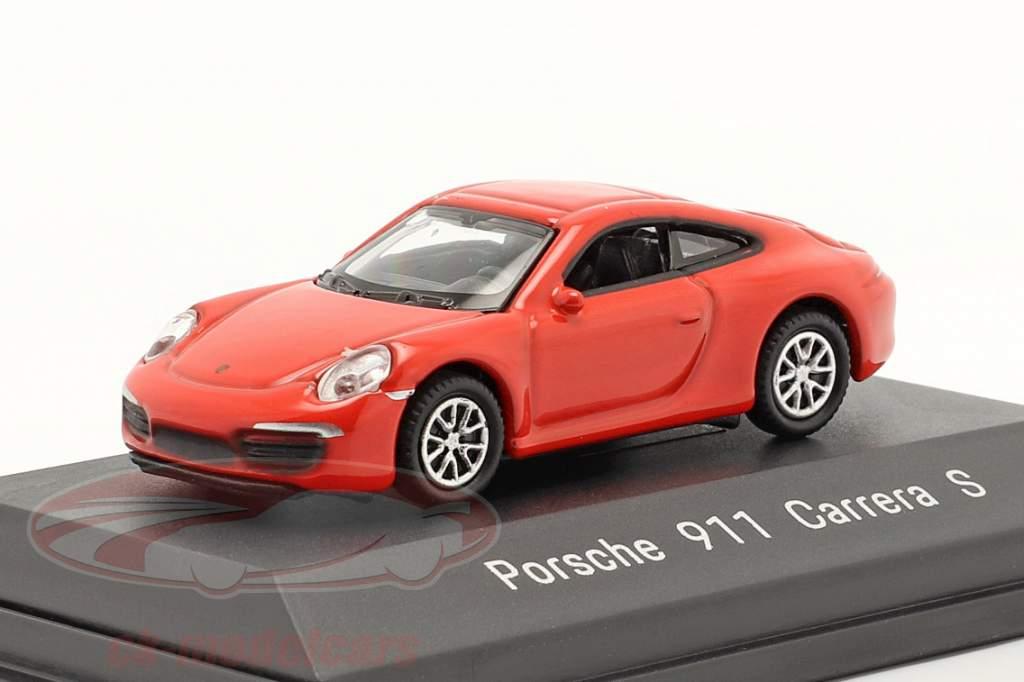 Porsche 911 (991) Carrera S rojo 1:87 Welly