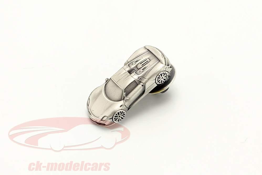 Pin Porsche 918 Spyder silber