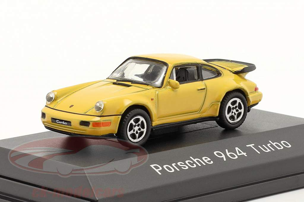 Porsche 911 (964) Turbo amarelo 1:87 Welly