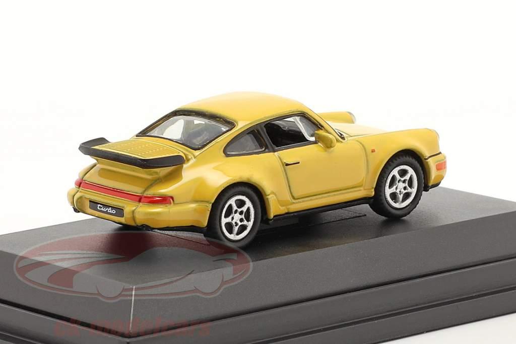 Porsche 911 (964) Turbo jaune 1:87 Welly
