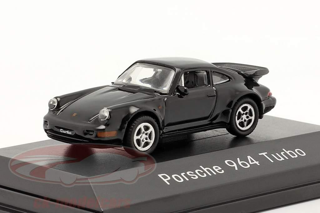 Porsche 911 (964) Turbo negro 1:87 Welly