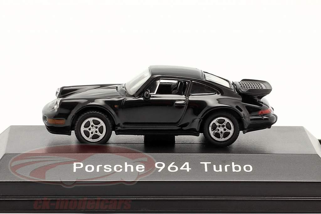 Porsche 911 (964) Turbo sort 1:87 Welly