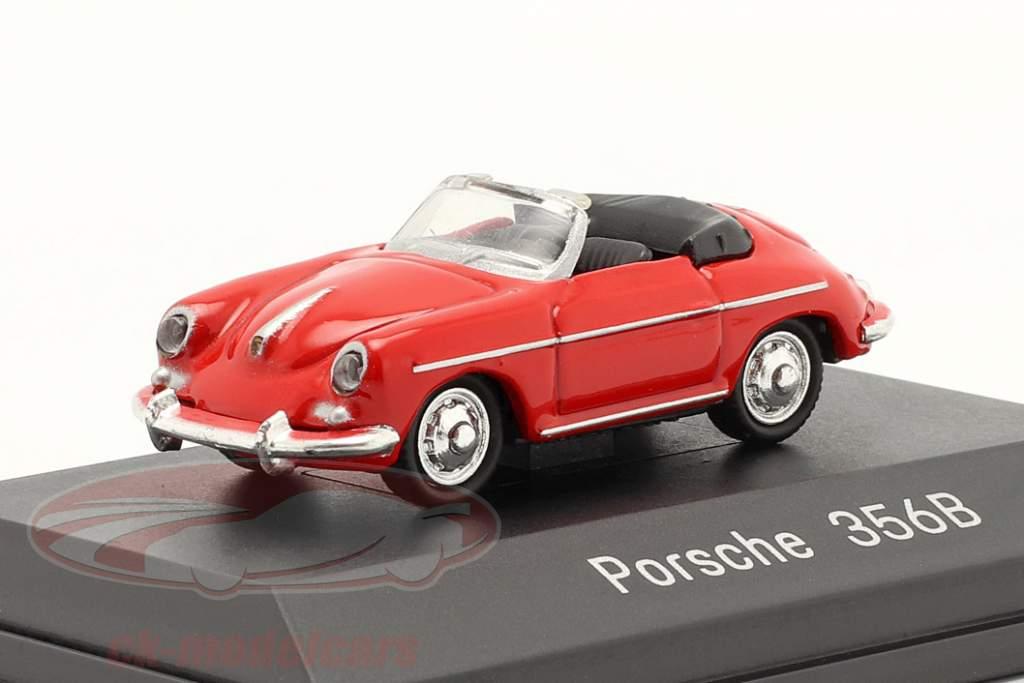 Porsche 356B Cabrio rood 1:87 Welly