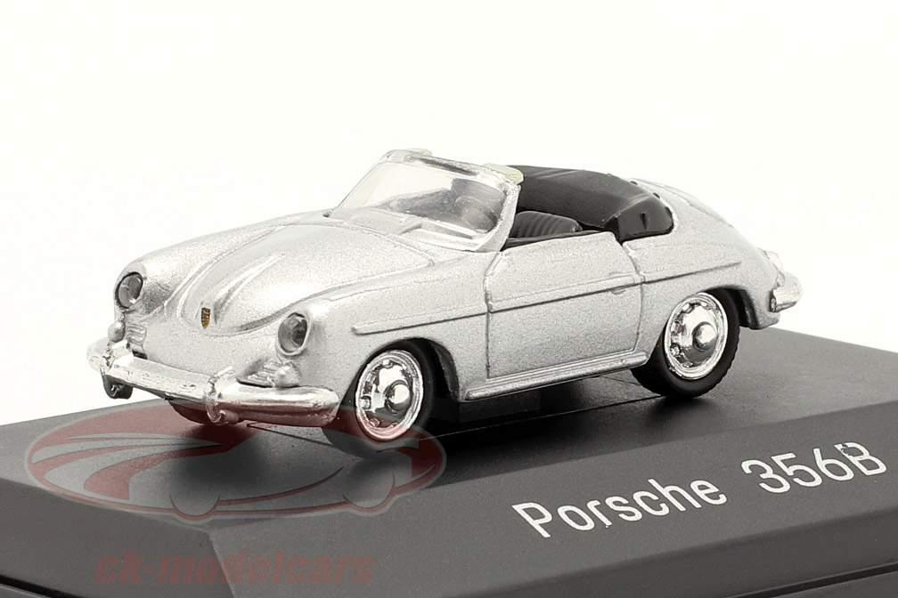 Porsche 356B Cabriolet silber 1:87 Welly
