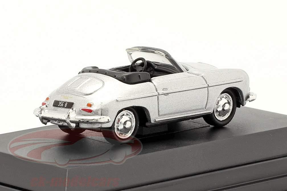 Porsche 356B Cabriolet sølv 1:87 Welly