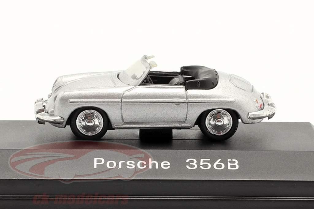 Porsche 356B Convertible silver 1:87 Welly
