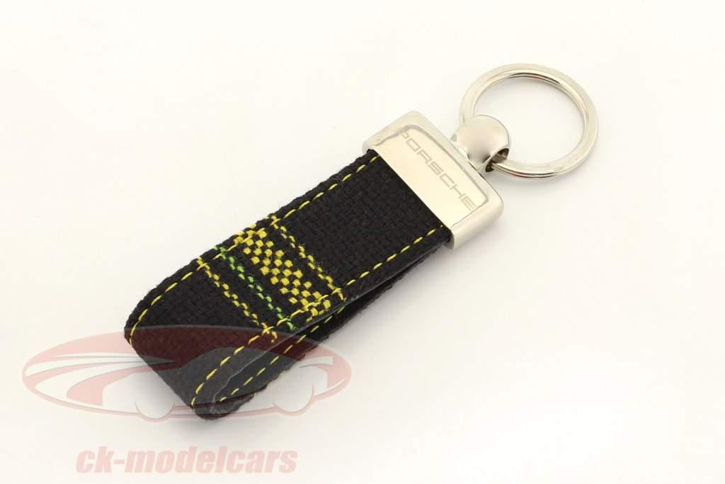 Porsche Porte-clés original Tissu d'assise plaid