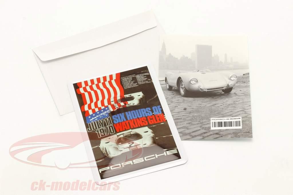 Porsche Metal postcard: 6h Watkins Glen 1970