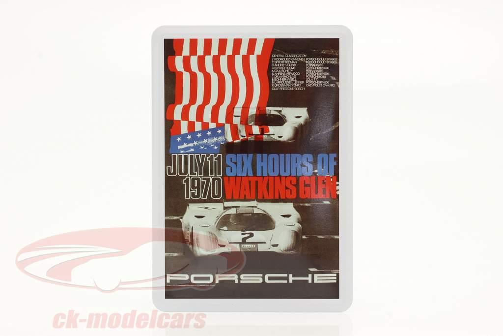 Porsche Metal postkort: 6h Watkins Glen 1970