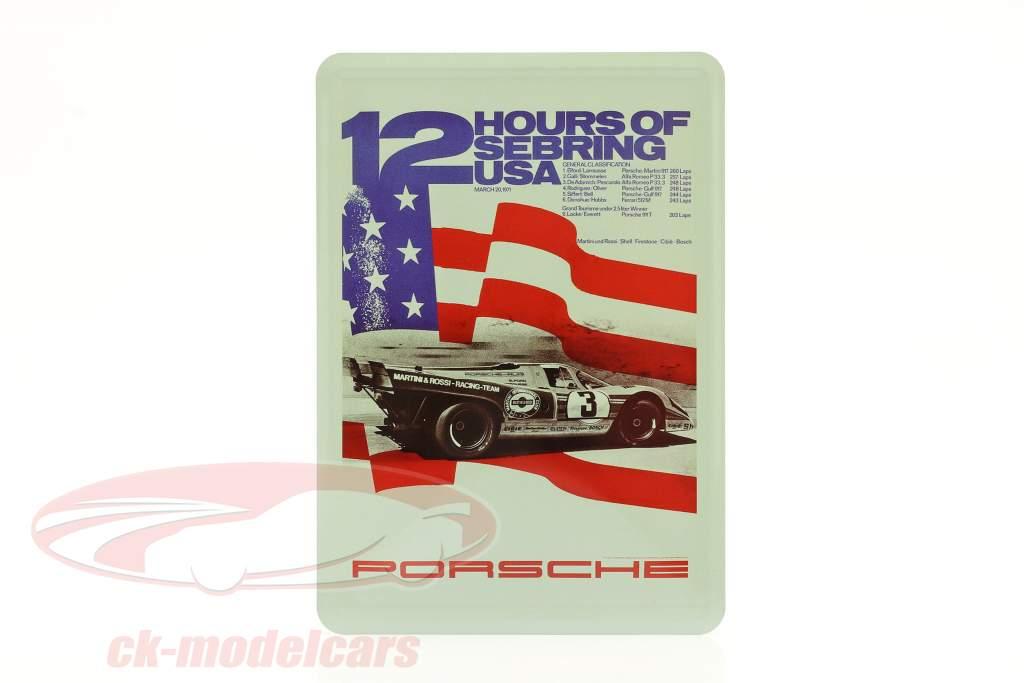 Porsche Carte postale en métal : 12h Sebring 1971