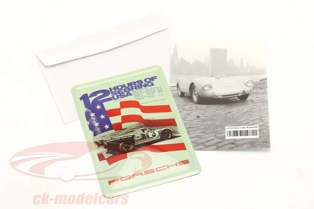 Porsche Metall-Postkarte: 12h Sebring 1971