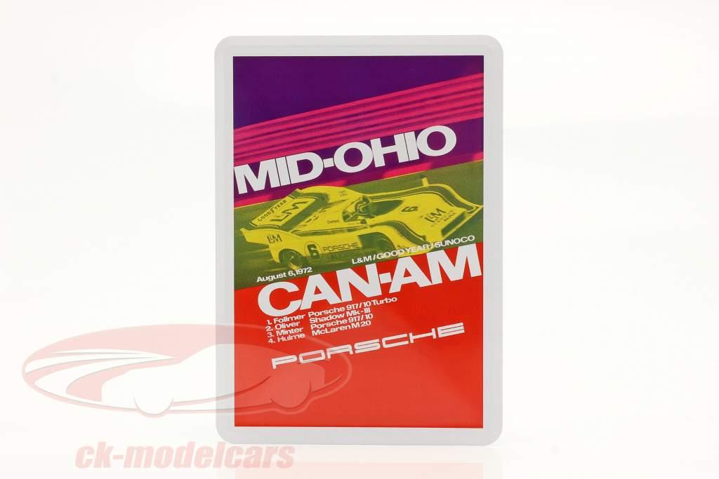 Porsche Metal postkort: Can-Am Mid-Ohio 1972