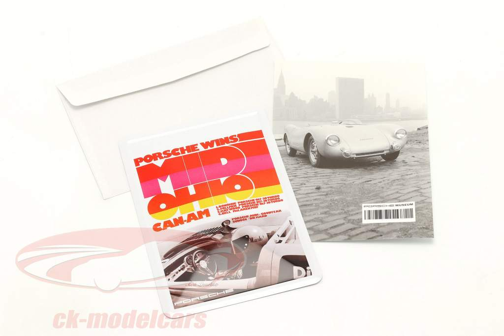 Porsche Metalen ansichtkaart: Can-Am Mid-Ohio 1973