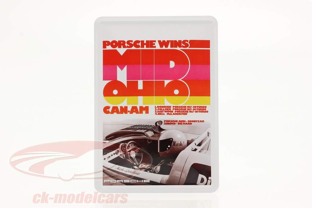 Porsche Metall-Postkarte: Can-Am Mid-Ohio 1973
