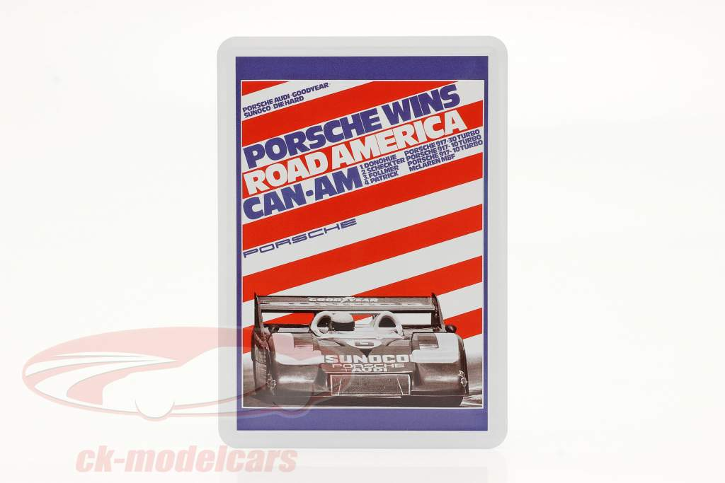 Porsche Metall-Postkarte: Can-Am Road America 1973