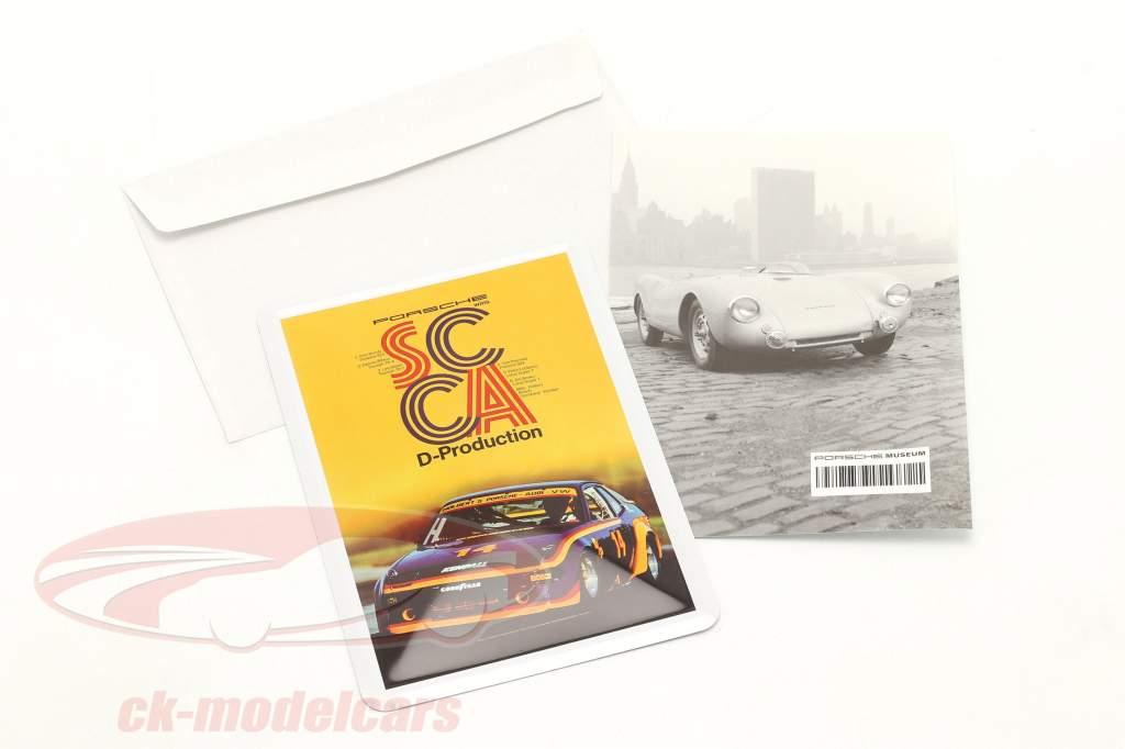 Porsche Metall-Postkarte: SCCA D-Production 1980