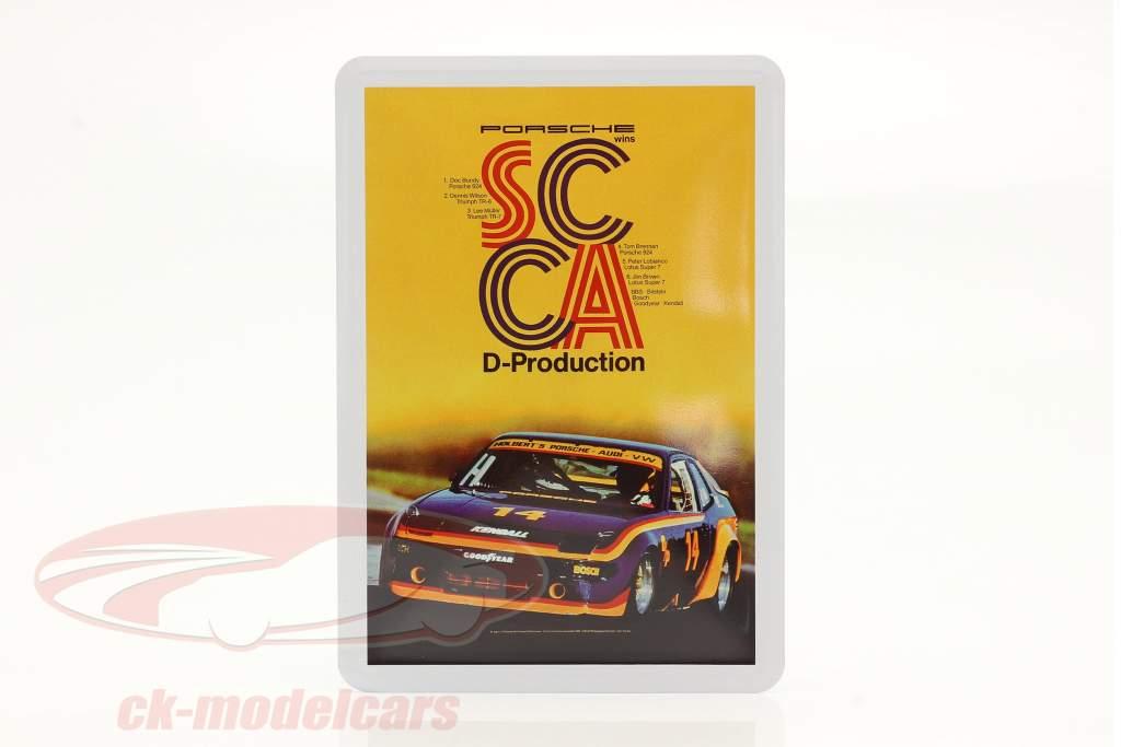 Porsche Metal postcard: SCCA D-Production 1980