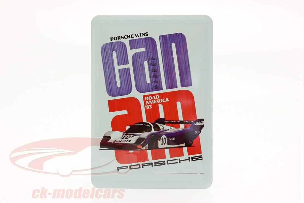 Porsche Metal postkort: Can-Am Road America 1983