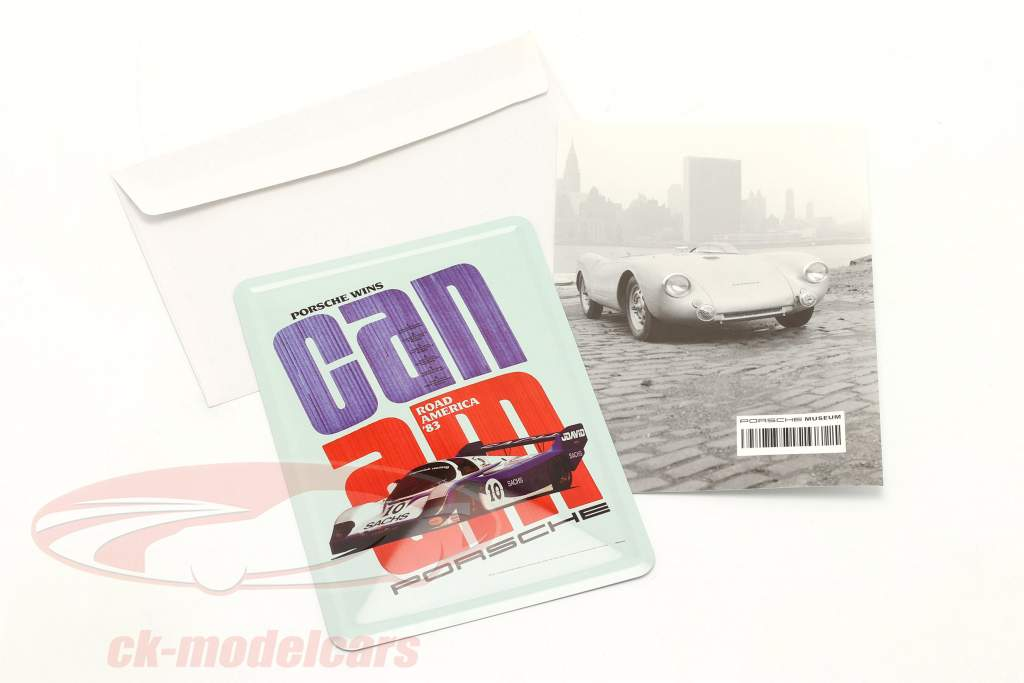 Porsche Carte postale en métal : Can-Am Road America 1983