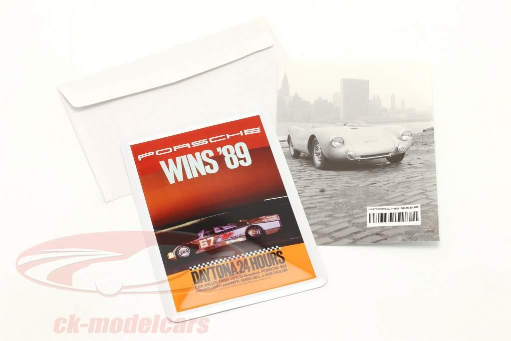 Porsche Metal postkort: 24h Daytona 1989