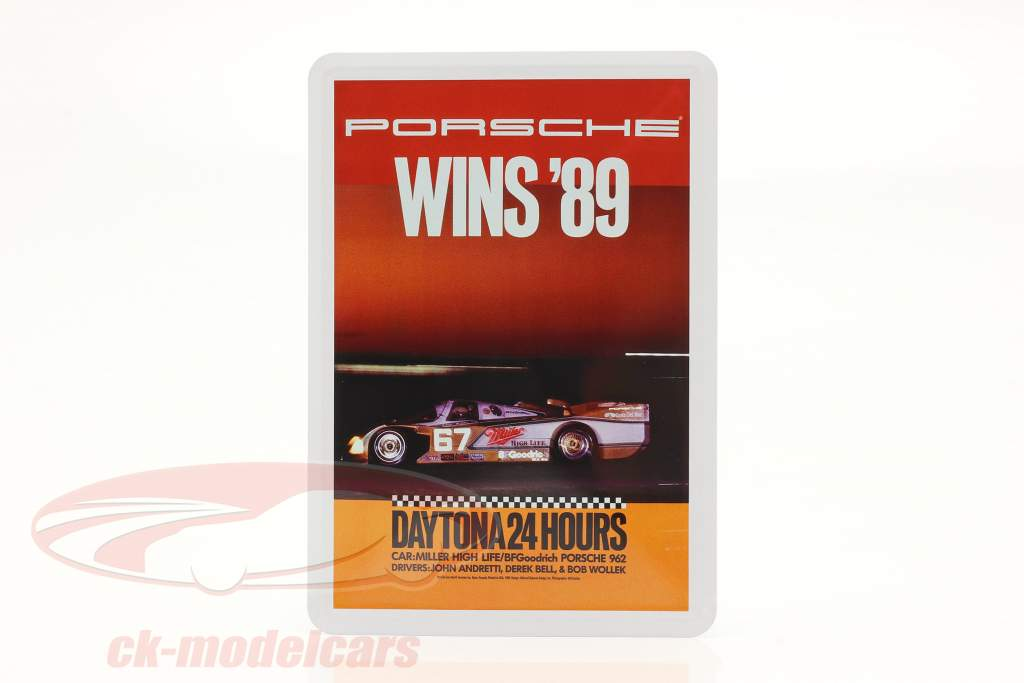 Porsche Metalen ansichtkaart: 24h Daytona 1989
